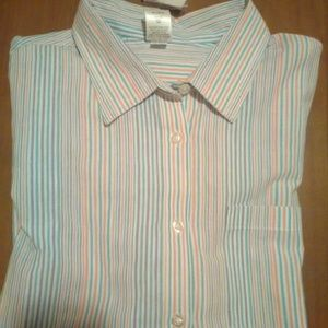 19651547547 NWT Colorful Striped BLAIR Shirt Size XLG NWT